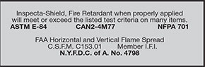 FAA Flame Spread Certification